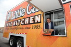 Little Caesars President and CEO David Scrivano celebrates the launch of the a new Love Kitchen.