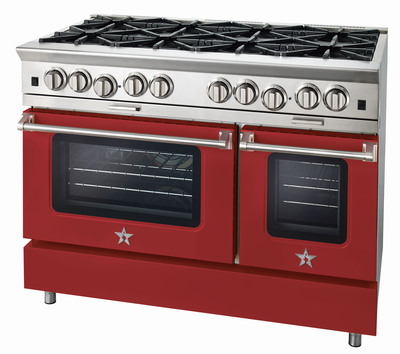 BlueStar(R) has been a leader in color customization for nearly a decade, offering cooking equipment in more than 750 standard color and finish choices plus thousands of custom color options. Even the knobs are available in 190 colors, and both knobs and trims are offered in designer metals.  (PRNewsFoto/BlueStar(R))