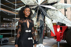 Broadway's Denée Benton Helps Raise The Swarovski Star To The Top Of The World Famous Rockefeller Center Christmas Tree
