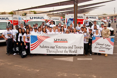 U-Haul Salutes our Veterans and Troops Throughout the World.  (PRNewsFoto/U-Haul)