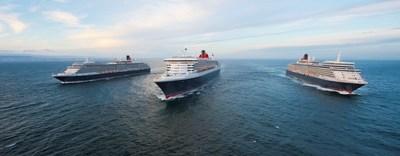 Cunard's Queen Mary 2, Queen Elizabeth and Queen Victoria