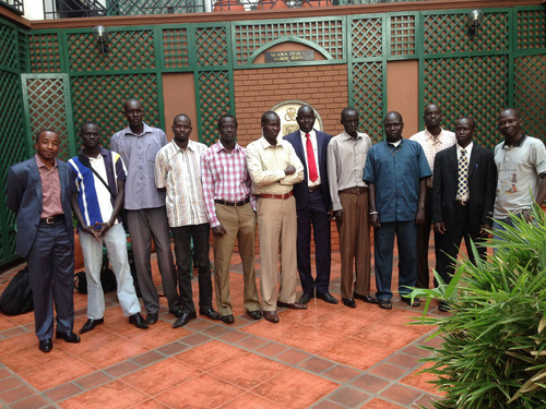South Sudanese medical students arrive at JFK airport in New York this weekend en route to Grenada to study at St. George's University. (PRNewsFoto/St. George's University) (PRNewsFoto/ST_ GEORGE'S UNIVERSITY)