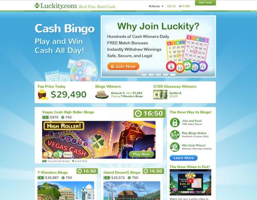 Play bingo free win cash