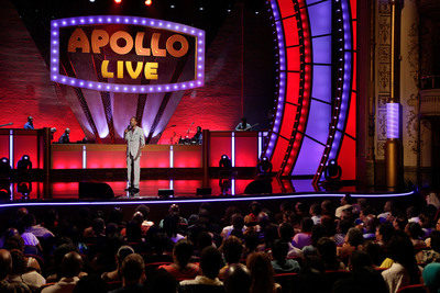 "Tony Rock hosts ""Apollo Live"" premiering Saturday, December 1st at 8 PM ET/PT on Centric. Featuring judges Gladys Knight, Doug E. Fresh and Michael Bivins.  (PRNewsFoto/BET Networks, Getty Images Courtesy of BET Networks)"