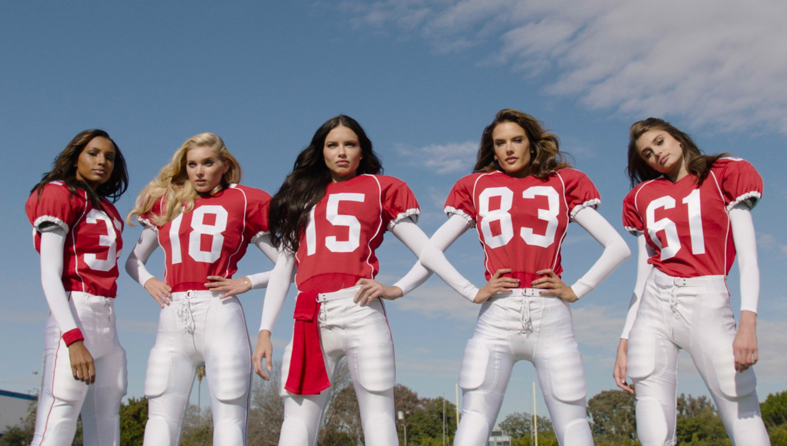 712febfabe Victoria s Secret Angels Play Football in New