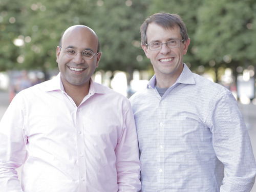 Niraj Shah and Steve Conine, co-founders of Wayfair.  (PRNewsFoto/Wayfair.com)