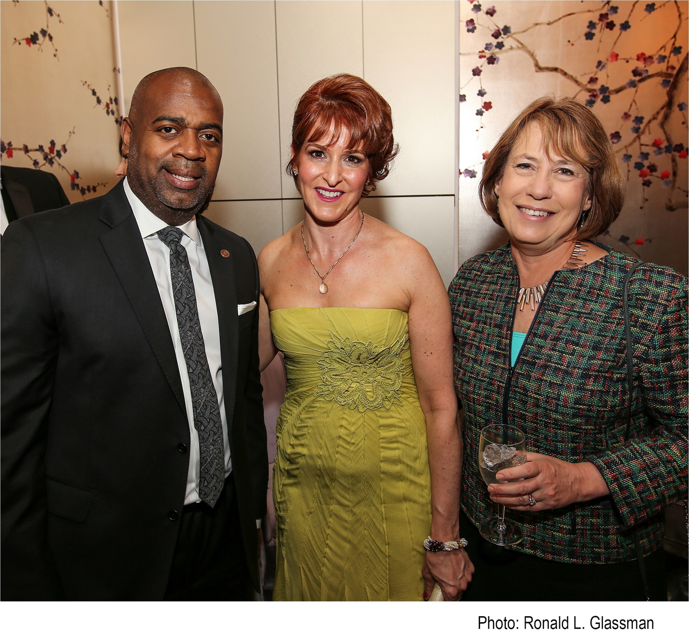 From left to right: Ras Baraka, Mayor, City of Newark, Gabrielle L. Kurlander, President and CEO, All Stars Project, Inc. and Sheila C. Bair,  President, Washington College at the All Stars Project 2016 National Gala at Lincoln Center in New York City on April 18, 2016.  The event raised over $2M in private funding for All Stars' afterschool development programs for inner-city youth across the country.
