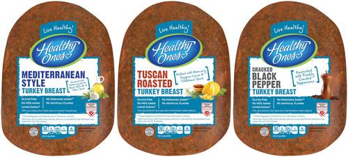 Consumers can enjoy three new, fresh flavors of Healthy Ones Deli turkey breast in 2014: Mediterranean Style, ...
