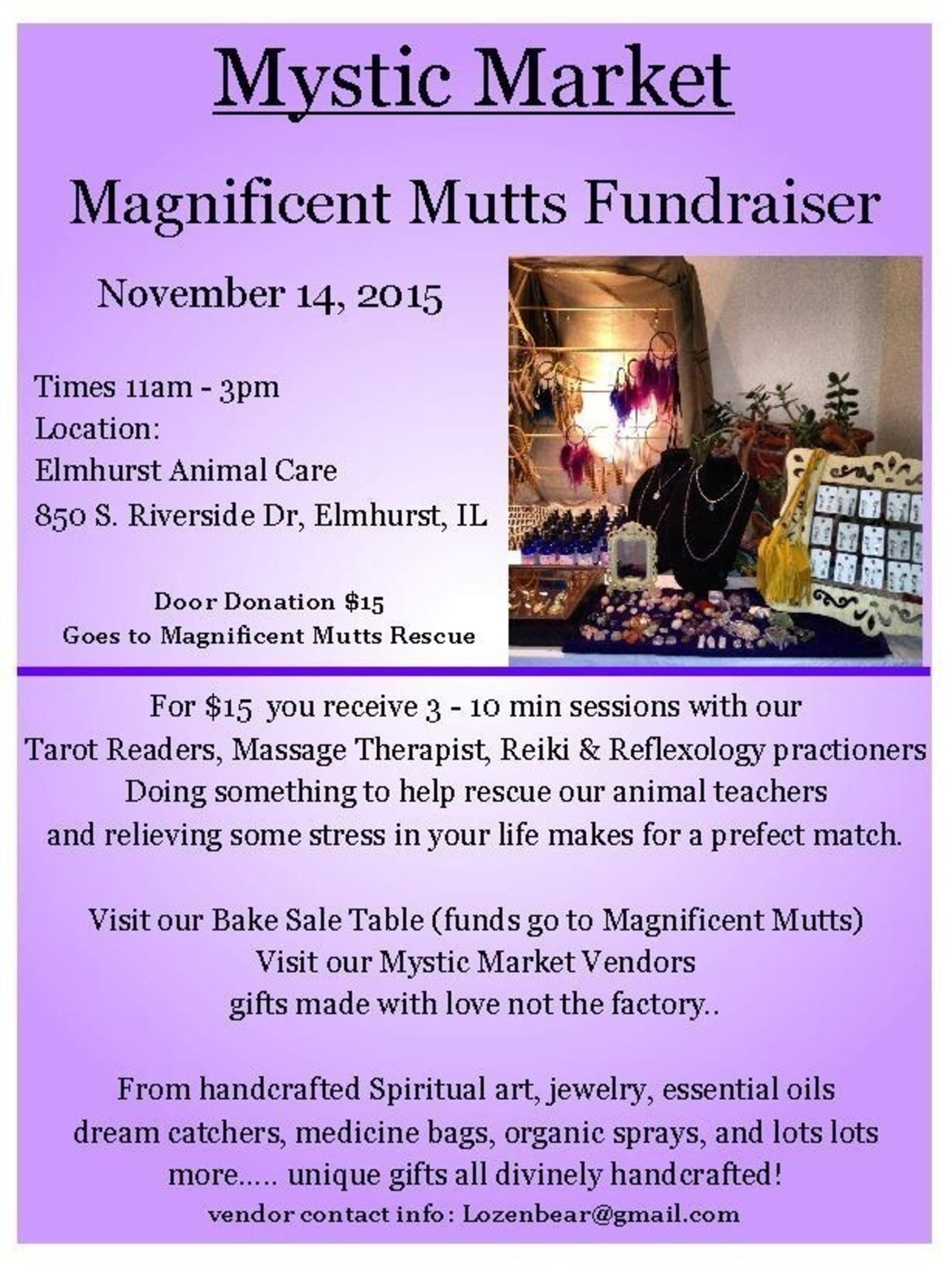 Elmhurst Animal Care Center to Host November 2015 Magnificent Mutts Fundraiser