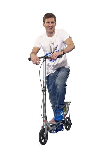 Four time world football player of the year Lionel Messi has signed a three year contract with Dutch Space Scooter. (PRNewsFoto/Space Scooter)