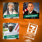 Selected by public vote, the three finalists have been named in 7-Eleven's Operation: Take Command contest - a competition for one military vet to win a franchise fee-free 7-Eleven store. They are, from top left, Army vets Salil Gautam of Chesapeake, Va., and Robert Kemna of Miami, and Navy vet Mark Anthony Page of Granbury, Texas.