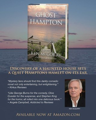 """Ghost Hampton,"" Ken McGorry's second novel, follows a town turned upside down by a haunted house in an exclusive neighborhood."