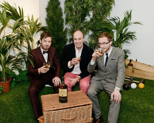 Russell Jones of Condiment Junkie, Professor Charles Spence and Scott King of Condiment Junkie ...