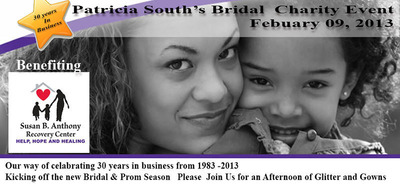 Patricia South Bridal to Host Fashion Benefit for the Susan B. Anthony Center. (PRNewsFoto/Patricia South's Bridal and Formal) (PRNewsFoto/PATRICIA SOUTH'S BRIDAL AND F...)