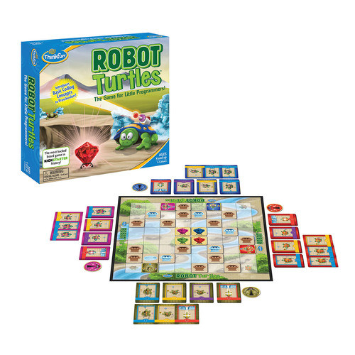 ThinkFun(R) will bring Kickstarter sensation Robot Turtles(TM), the board game for little programmers, to the market in concert with national movements supporting code literacy and STEM education. Visit ThinkFun.com/robotturtles to pre-order Robot Turtles and receive a free Special Edition Expansion Pack that doubles game play. ThinkFun is the world's leading developer of addictively fun games that sharpen your mind and best known for Laser Maze(TM), Rush Hour(R) and Zingo!(R). (PRNewsFoto/ThinkFun, Inc.) (PRNewsFoto/THINKFUN, INC.)
