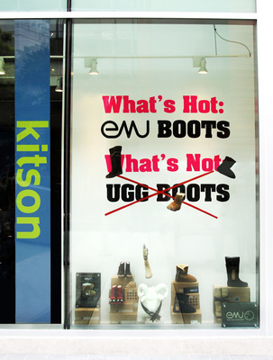 """What's hot - EMU Boots, What's not - UGG Boots!"" (Kitson LA).  (PRNewsFoto/EMU Australia, Krista Kennell)"