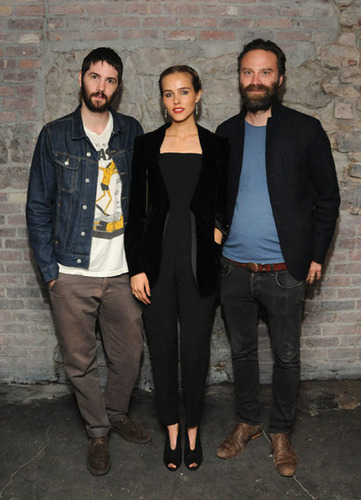 Isabel Lucas, Jim Sturgess, and Tristan Patterson at the grand opening of Troy Liquor Bar, Meatpacking ...
