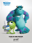 Disney's Mike and Sulley Don Monster-Sized Milk Mustaches in New Got Milk? Ad.  (PRNewsFoto/MilkPEP)