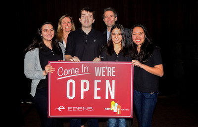 Joe Cut Wins 2014 Edens Retail Challenge And The Opportunity To Bring Their Retail Concept To Life.  (PRNewsFoto/EDENS)