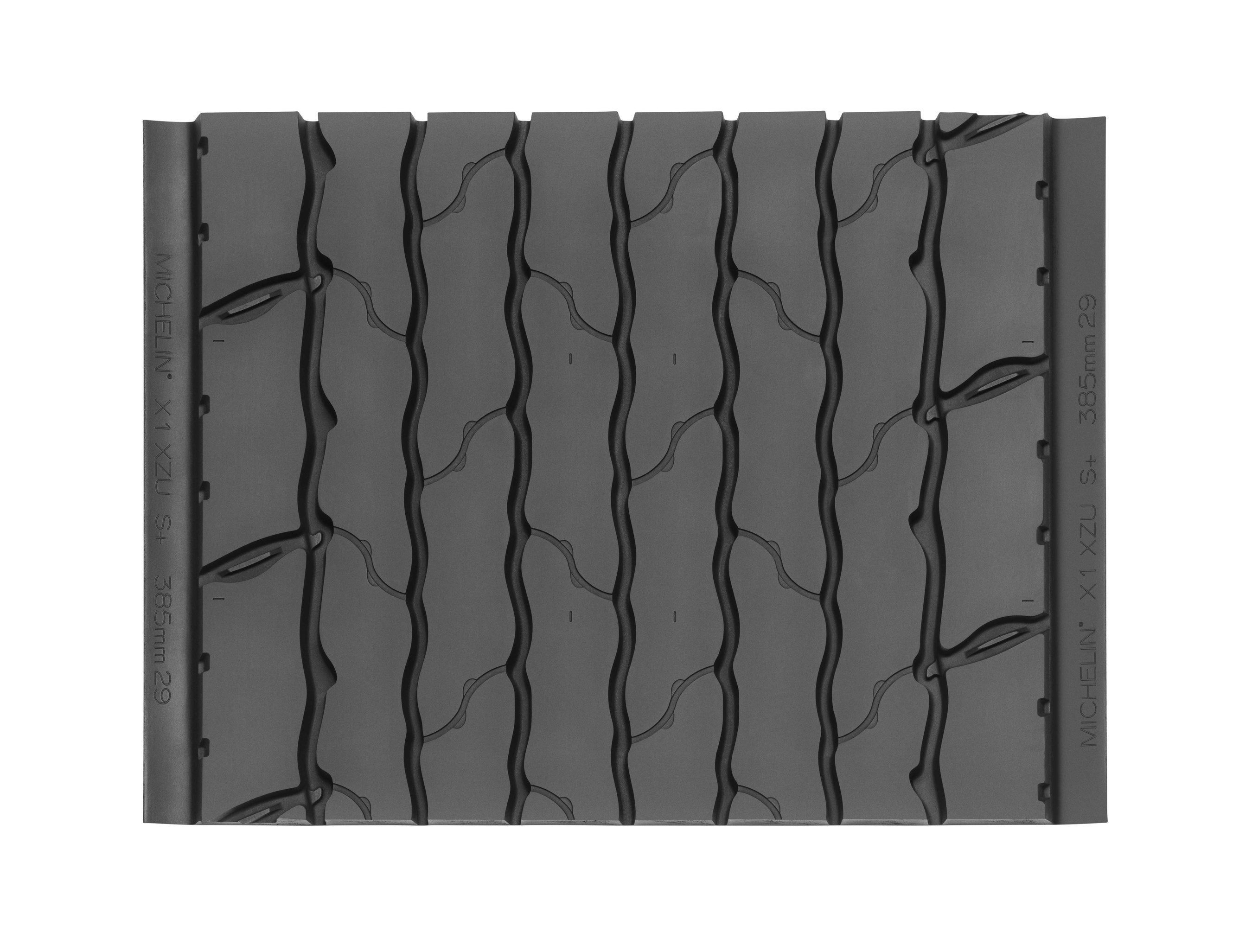 The MICHELIN X ONE XZUS+ Pre-Mold retread -- an industry-leading, all-position, next-generation wide-base single -- for waste and refuse trucks that operate in demanding urban environments.