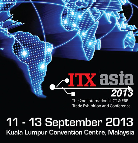 ITX Asia 2013 is set to return to Kuala Lumpur Convention Centre from 11 to 13 September 2013. Group managing director of Business Media International, Dato' William Ng, is excited that major brands such as Blackberry, Google and Computer Associates  ...
