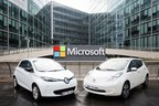 Renault ZOE and Nissan LEAF (from left to right). (PRNewsFoto/Renault-Nissan Alliance)