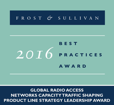 Frost & Sullivan recognizes Vasona Networks with the 2016 Global Radio Access Networks Capacity Traffic Shaping Product Line Strategy Leadership Award.
