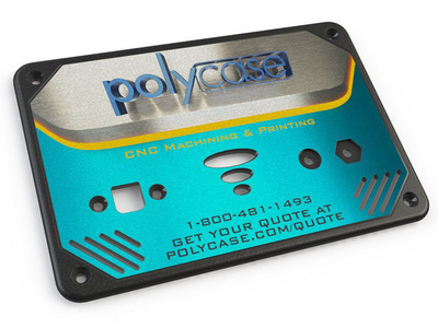 Sample of full-color digital printing Polycase provides on its plastic enclosures.  (PRNewsFoto/Polycase)