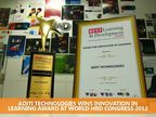 Aditi Technologies wins innovation in learning award at world HRD Congress 2012
