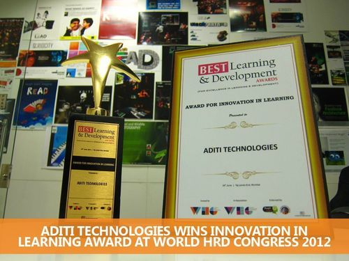 Aditi Technologies Honored With Innovation in Learning Award at World HRD Congress 2012