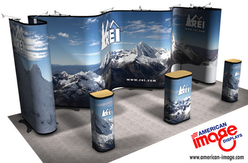 20ft Twist Trade Show Banner System.  (PRNewsFoto/American Image Displays)