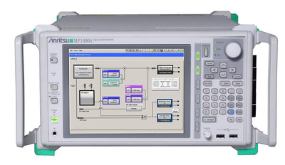 The Anritsu MP1800A Signal Quality Analyzer BERT is part of a Thunderbolt Receiver Test Solution that also features the GRL-TBT3-RXA calibration and receiver test software developed in cooperation with Granite River Labs (GRL).