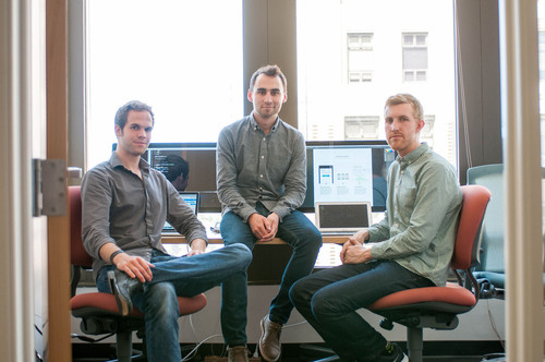 Erik Hazzard, CTO (Left); Nikita Bier, CEO (Center); Jeremy Blalock, CPO (Right). (PRNewsFoto/Outline.com) ...