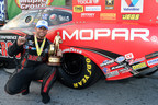 """Matt Hagan drives Mopar to Reading NHRA Nationals win and Points Lead in """"Countdown to Championship"""" (PRNewsFoto/Chrysler Group LLC)"""