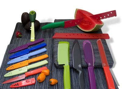 Colorful Specialty Knives From Kuhn Rikon.  (PRNewsFoto/Kuhn Rikon)