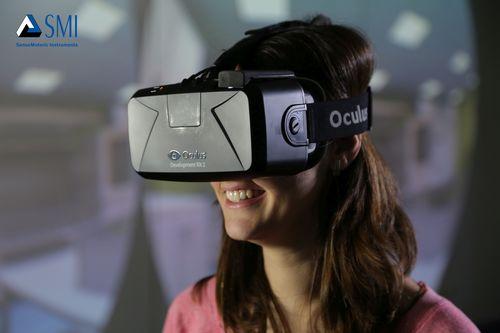 SMI Eye Tracking upgrade package for the leading Oculus Rift DK2 virtual reality headset www.smivision.com/eyetracking-hmd (PRNewsFoto/SMI)
