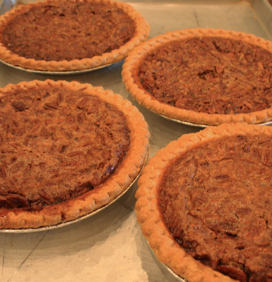 Pecan Pies made by Boca Grove Members and baked by Chef Dominick Laudia and Chef Dave.