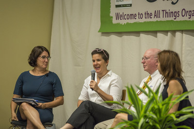 Panelists discuss the current and future state of organic during the Organic Trade Association's All Things Organic educational conference at Natural Products Expo East.