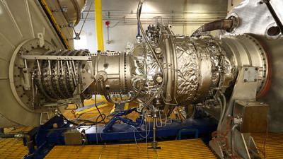 Wood Group GTS has expanded its gas turbine service line and now offers maintenance, repair and overhaul for Solar(r) Mars(r) (shown) and Siemens(r) SGT 200 (Tornado) dry low emissions  and SGT 100 (Typhoon) gas turbines.  Wood Group GTS is the first independent service provider to offer aftermarket services for all three models, which are used primarily by the oil & gas industry.  (PRNewsFoto/Wood Group)