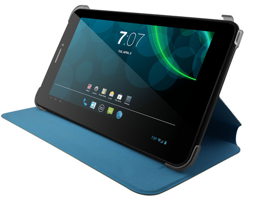 InfoSonics' verykool(R) T742 KolorPad(TM) is a 7-inch tablet powered by a 1.3 GHz dual core processor and the Android 4.2 operating system. Like the other products in the verykool(R) lineup, the T742 (suggested retail $149) makes owning a mobile device affordable. The T742 is compact, featuring a 7-inch capacitive LCD touchscreen, up to 32 GBs of external storage, USB tethering and Bluetooth 4.0. It can connect to a keyboard, mouse and game joystick through a USB on-the-go interface and as an added value each tablet is packaged with a stereo headset, data cable, travel adapter, USB on-the-go cable and case. (PRNewsFoto/InfoSonics Corporation) (PRNewsFoto/INFOSONICS CORPORATION)