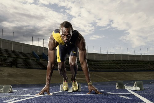 The fastest man in the world won his third triple Olympic gold. Copyright: Jon W Johnson. (PRNewsFoto/HUBLOT)