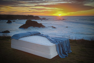 FloBeds Natural Latex Mattress on Winter Solstice. The mattress that can be shipped to a beach near your via UPS... Dreams in a Box