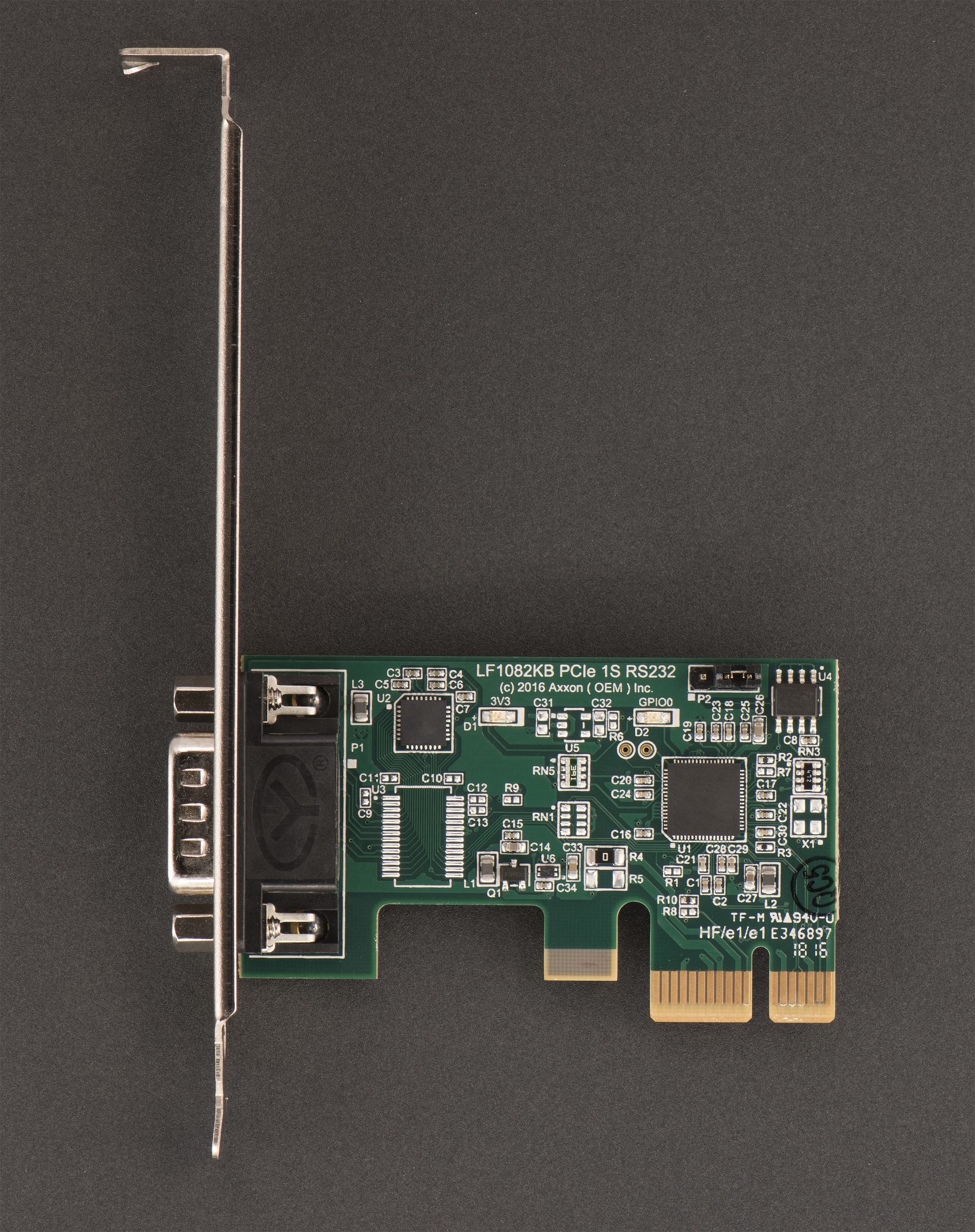 Axxon Announces New 10 Pci Express Serial Port Rs232 Adapter Pic Programmer