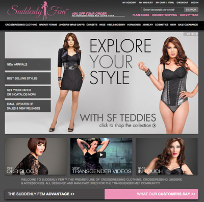 Transgender clothing online