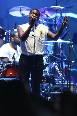 """Las Vegas local Shamir became a hit sensation with his debut EP """"Northtown"""" and opened T-Mobile's first concert on Wednesday, April 6, 2016. Photo credit: Al Powers"""