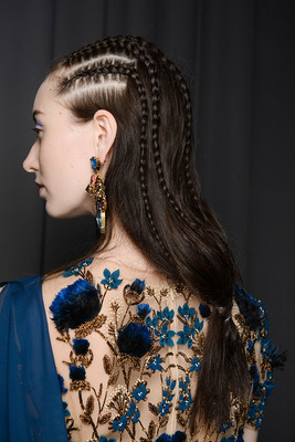 TONI&GUY Hair Meet Wardrobe | Marchesa AW14 | Hair by Mark Hampton