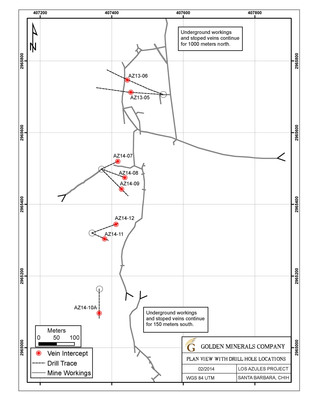 Los Azules Drill Hole Location Map. (PRNewsFoto/Golden Minerals Company) (PRNewsFoto/GOLDEN MINERALS COMPANY)