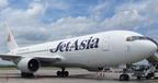 Jet Asia's newest aircraft arriving at BKK Airport.  (PRNewsFoto/Jet Asia Airways Co., Ltd.)