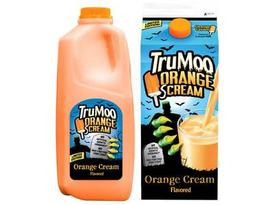TruMoo(R) Casts A Spell With New Limited Edition Orange Scream Milk: Nation's Leading Flavored Milk Brand Brews Up Halloween-Inspired Drink (PRNewsFoto/Dean Foods Company)