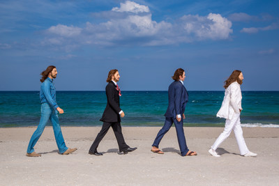 Here Comes The Sun! The Beatles, as Madame Tussauds wax figures, take a stroll on a Florida beach. The image pays homage to the famous Abbey Road album cover and the band's first trip to Florida more than 50 years ago, when they visited the Sunshine State for their second live appearance on The Ed Sullivan Show. Starting July 30, Beatles fans can Come Together at Madame Tussauds Orlando, say Hello Goodbye and take the selfie of their dreams as they take part of one of the most famous Beatles images...